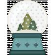 Retro Holly Jolly - snow globe
