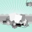Layered Scrap Template - Burst #1