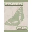 Butterfly Spring - pocket card #4-2, 3x4