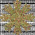Multicolor Glittery Snowflake
