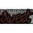Wordart-Candy bar Sweet
