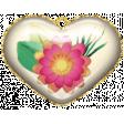 Mixed Media Play - Acrylic Heart 2