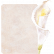 Pretty Botanics - Calla Lily Shaped Journal Card