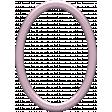 Mauve Medley - Smooth Oval Frame