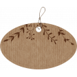 Oval Cardboard Tag with Leaves