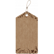 Rectangular Cardboard Tag with Leaves