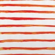 Paper - Bright Primary Watercolor Stripe - Orange