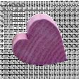 Wooden Heart - Purple