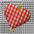 Plaid Fabric Heart Clip