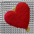 Red Felt Heart Clip