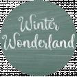 Winter Day Tag - Winter Wonderland