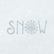 Winter Day Journal Card Snow 4x4