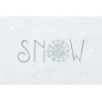 Winter Day Journal Card Snow 4x6