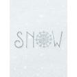 Winter Day Journal Card Snow 3x4