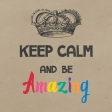 In The Pocket Journal Card [Filler Card] Keep Calm and Be Amazing - 4x4