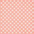 Spring Day Collab - May Flowers Peach Gingham Paper