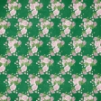 Spring Day - May Flowers Dark Green and Pink Roses Paper