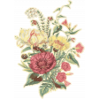 Family Day Antique Floral Sticker