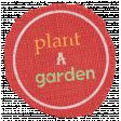 Garden Tales Elements - Plant a Garden Burlap Tag
