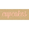 Food Day - Cupcakes Word Art