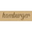Food Day - Hamburger Word Art