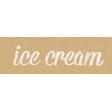 Food Day - Ice Cream Word Art