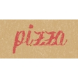 Food Day - Pizza Word Art