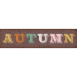Fall Flurry Autumn Word Art
