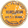 Harvest Pie Cream Label