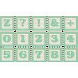 New Day Baby Lt Green Alpha Blocks Z, 0-9, Symbols Sheet