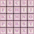 New Day Baby Lavender Alpha Blocks A-Y Sheet
