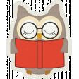 Enjoy the Moment Owl Reading Sticker