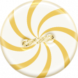 Sunshine and Snow Mini Yellow Peppermint Button