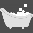 Baby Shower Baby Bathtub With Bubbles Template