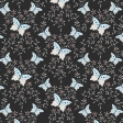 Love Knows Black and Light Blue Butterflies Paper