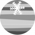 Snow Baby Template - Snowflake Striped Label
