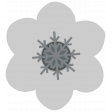 Snow Baby Template - Snowflake Flower
