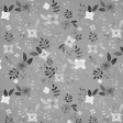 Snow Baby Template - Floral Paper