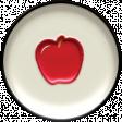 Heading Back 2 School Enamel Flair - Apple