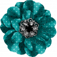 Legacy of Love Teal Polka Dot Flower