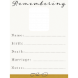 Reminisce Remembering Journal Card 3x4