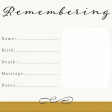 Reminisce Remembering Journal Card 4x4