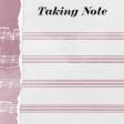 Singin' In The Rain Journal Card - Taking Note 4x4