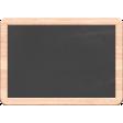 Veggie Table Elements - Blank Chalkboard