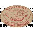 Old Farmhouse Custard Powder Label