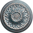 Old Farmhouse Ornate Button