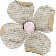 The Whole Story Newsprint Flower