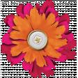 Bohemian Sunshine Element Orange Pink Flower