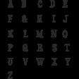 Bohemian Sunshine Black Alpha Sheet Uppercase