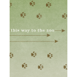 Into the Wild This Way to the Zoo Journal Card 3x4